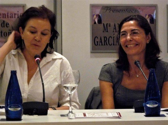 Con Clara Sánchez
