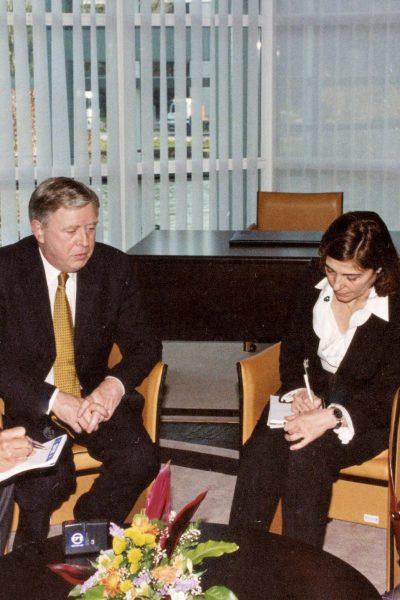 Entrevistando a Pat Cox, presidente del Parlamento Europeo (2002-2004)