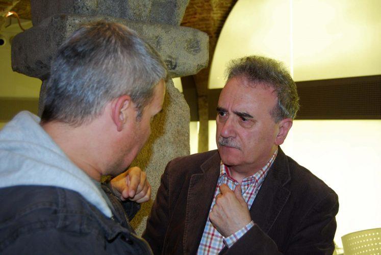 Los escritores Germán Temprano y Manuel Longares