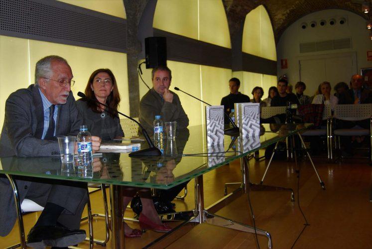 Con Luis Mateo y el editor Jesús Espino